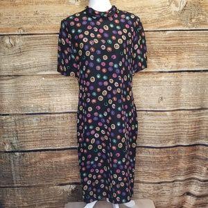 Vintage 80's Julie Francis Silk Dress Size 12